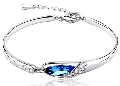 Belise Blue Crystal Bracelet